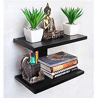 Dime Store Wall Shelf for Home Decor Items Wall Shelves for Living Room(Standard, Black)