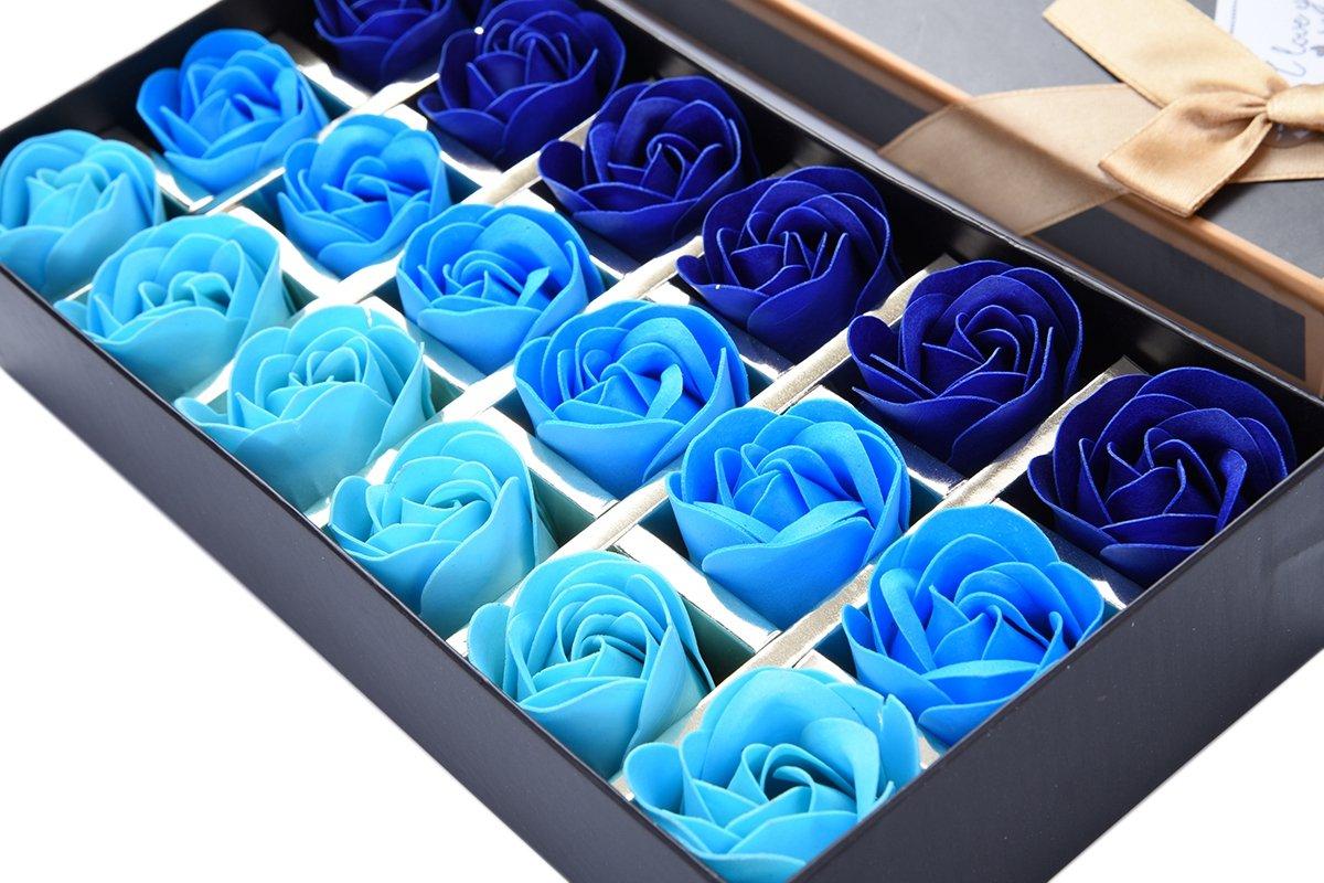 TININNA 1 Caja de 18 pcs Rose Jabón Flor de Regalo,Jabón de Baño de Fascinante Ramo de Rosas, Forma Bonita Jabón Rose…