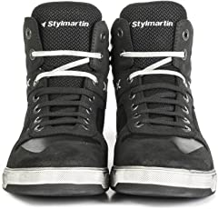 Styl Martin Frecce Scarpe Atom Sneaker Mesh nero con protezioni nocche TAGLIA 43