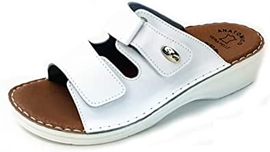 Dr Punto Rosso BRIL D54 Sandali Zoccoli Sabot Pantofole Scarpe Pelle Donna
