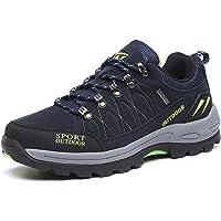 Chaussures de Randonnée Outdoor pour Hommes Femmes Basses Trekking et Les Promenades Sneakers Verte Bleu Noir 36-47