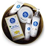 The Moms Co. Pregnancy Gift Set With Herbal Tea Belly And Bust With All-Natural Body Butter, Foot Cream, Body Wash, And Stret
