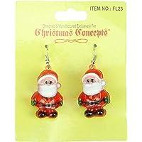 Christmas Concepts®, Orecchini natalizi luminosi lampeggianti a forma di Babbo Natale