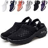 FTIK Mesh Orthopedic Walking Sandals, Air Cushion Sandals, Womens Walking Shoes Slip On Lightweight Breathable Ladies Comfy C