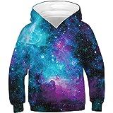 uideazone Sudaderas para Niña Niño Adolescentes Chicas Muchachos Sudaderas Hooded Sweatshirt 3D Impresión Sudaderas con Capuc