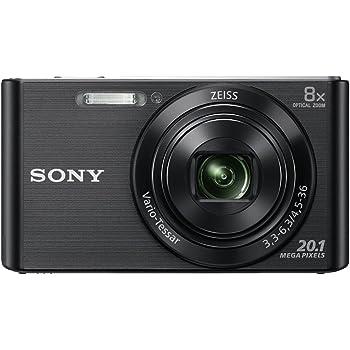 Sony DSC-W830 Fotocamera Digitale Compatta, Sensore Super HAD CCD da 20.1 MP, Obiettivo ZEISS Vario-Tessar, Nero