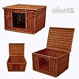 GalaDis 1-19 Katzenhaus (60 x 50 x 40 cm) Katzenkorb/Katzenbett/Hundehütte für kleine Hunde/Katzen-Wurfbox/Wurfkiste