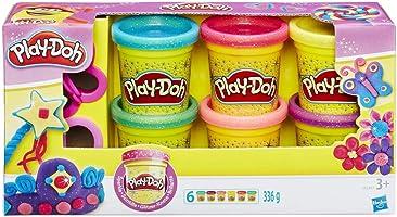 Play-Doh A5417EU8 Glitzerknete für fantasievolles und kreatives Spielen, Multicolor