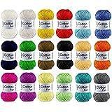 Gründl Cotton Fun Set de pelotes de fil à crocheter Mélange de couleurs (10x 50g)