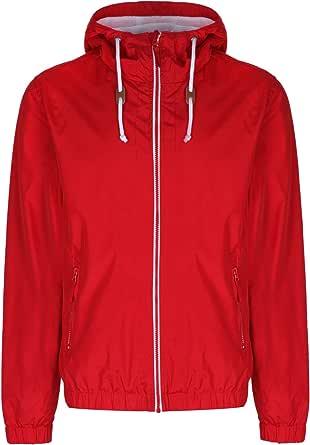 Soulstar Mens Renty Windbreaker Jacket Lightweight Hooded Waterproof Rain Coat
