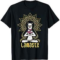 Funny Yoga T-Shirt Llama Alpaca Yoga Lamaste