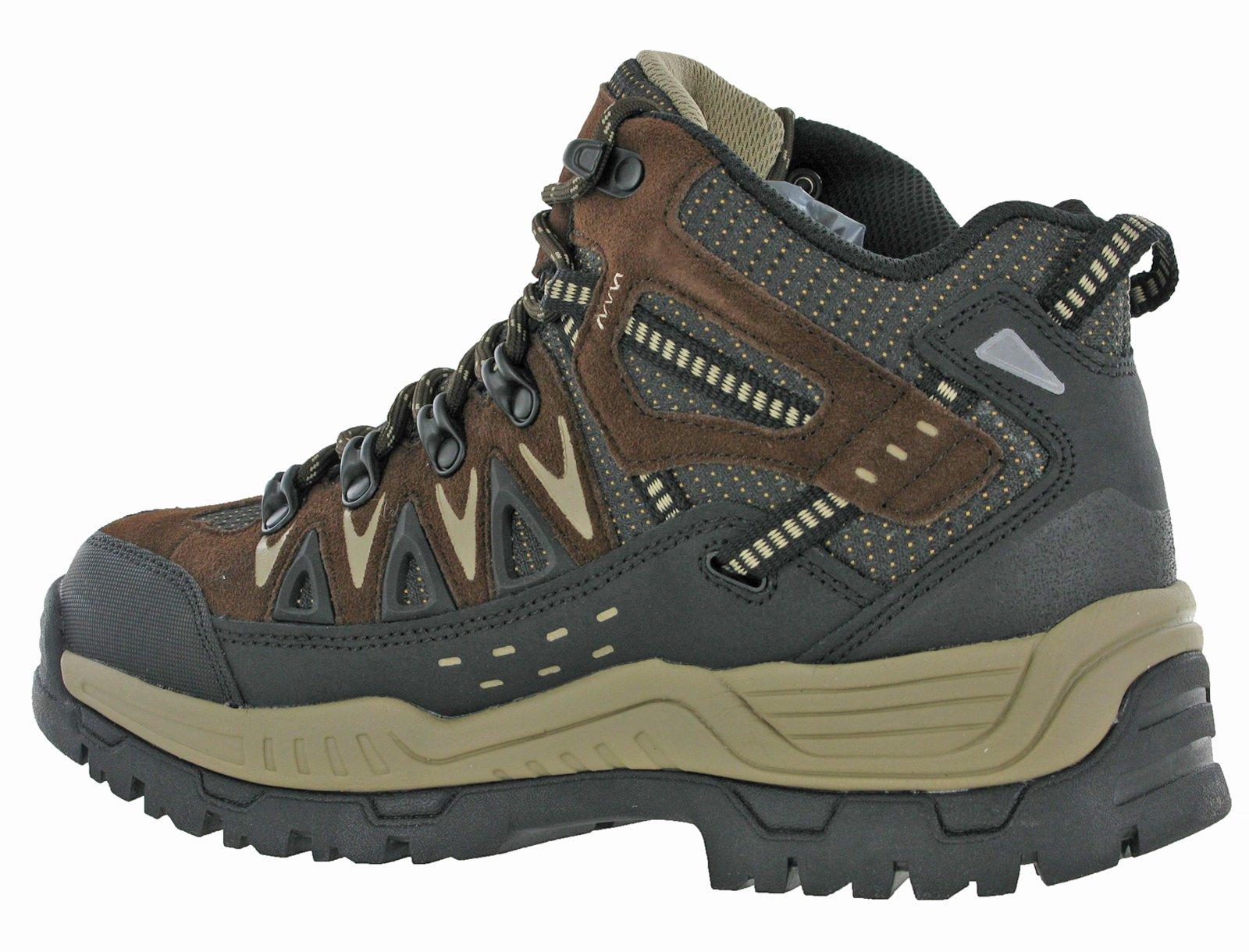 Northwest Mens Piers Hi Cut Brown/Beige Ankle Walking Boots 4