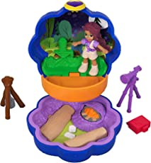 Polly Pocket FWN40 - Tiny Places Schatulle Shanis Camping Abenteuer