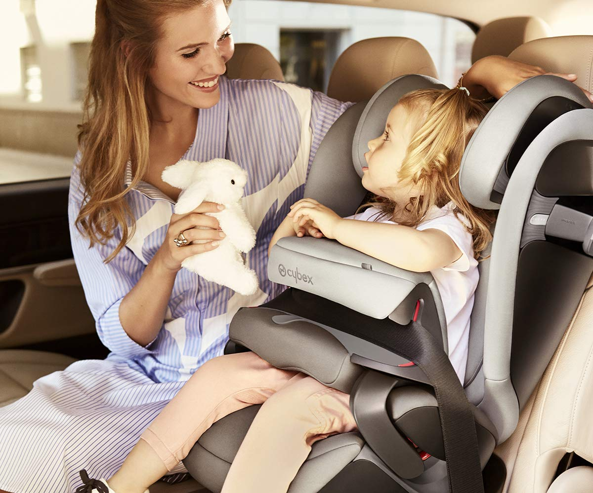 cybex Gold Pallas S-Fix Car Seat, Group 1/2/3, Manhattan Grey  Group 1/2/3 combination car seat. suitable from 9 - 36kg. designed to be used until a maximum height of 150cm, approximately 12 years. The optimized impact shield of the pallas s-fix reduces the risk of serious neck injuries without confining the child. shield suitable until 18kg. The integrated lisp. system offers increased safety in the event of a side-impact collision by reducing the forces by approximately 25%. 10