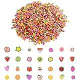 PROGARMENTS 10000Pcs Mini 3D Fruit Slices, Slime Fruit Slices Fruit Nail Art Slices Fruit Fimo for Nail Art Decoration