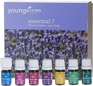 Young Living Ätherische Öle-Kollektion Essential 7 (Die unentbehrlichen Sieben), 7x5ml