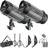 Neewer Flash Estroboscópico Kit de Luz Estudio Fotográfico y Iluminación Softbox: Flash Monolight 250W, Soportes de Luz, Soft