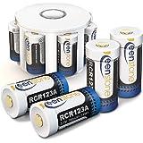 RCR123A Batterie Rechargeable pour Arlo Caméra, Keenstone Batterie Li-ION 3.7V 700mAh, Chargeur avec 8 Compartiment, Idéal pour Arlo Camera VMS3030/3130/3230/3330/3430 (8 pcs)