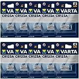 Varta CR123A professionellt batteri (10-pack, fotobatteri litiumjon för högteknologiska kameror och blixtar eller övervakning