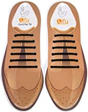 Lify No tie shoelaces for dress shoes silicone elastic shoe strings, No tie shoelaces for Formal/Office shoes- 1 Pair
