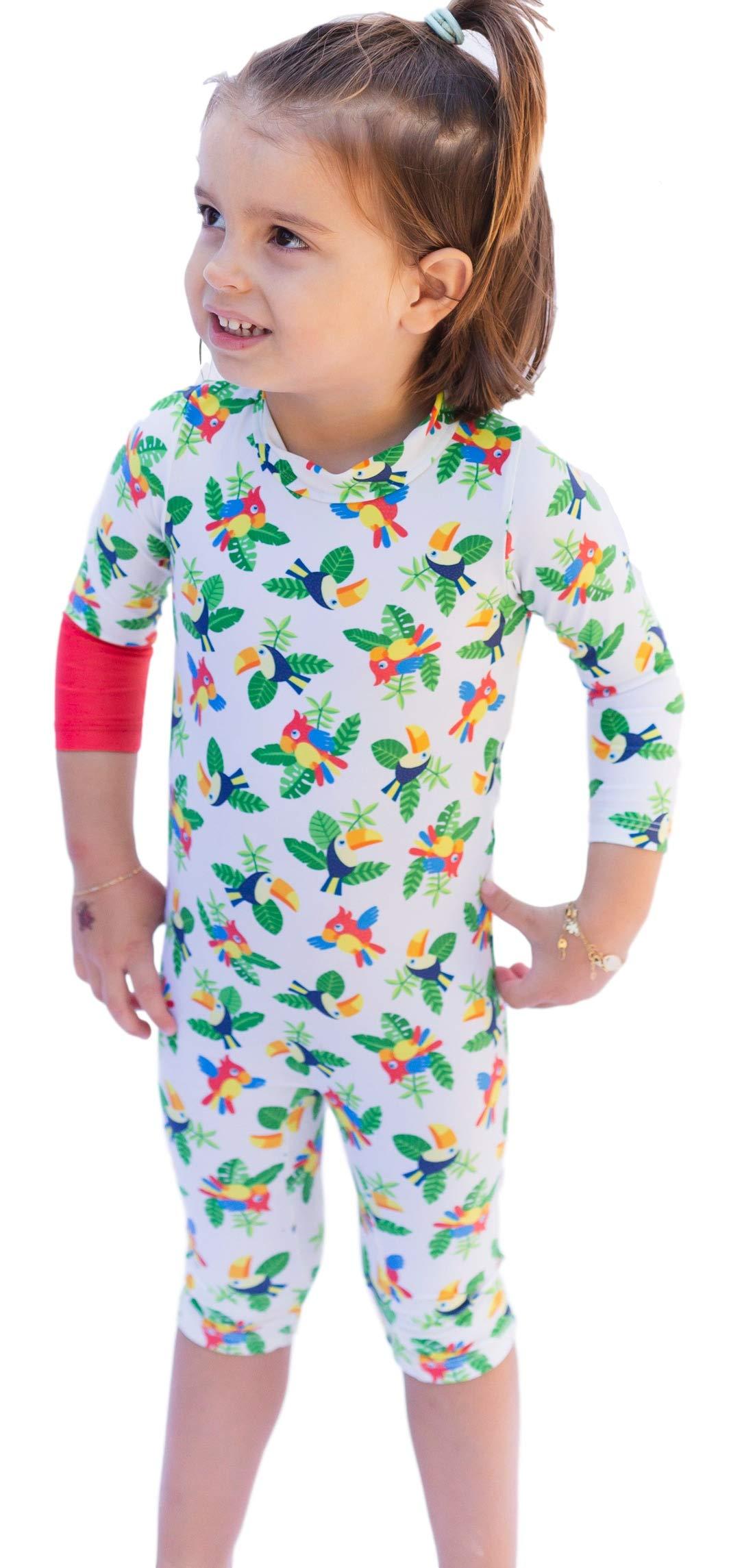 OCOI Traje De Baño para Bebé con Protección Solar UPF50+ Manga Larga – Mono/Bodysuit/Bañador Entero Una Pieza niña y… 9