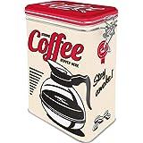 Nostalgic-Art 31105 Strong Coffee – Idée de Cadeau pour la Cuisine, Récipient avec Couvercle aromatique, Design Vintage, 11 c