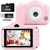 Kids Camera, 3.5 Inches Digitale Kinderen Camera, Peuter Camera met 32GB Sd-kaart &1080P 8.0MP, Verjaardag Nieuwjaar Kerst Sp