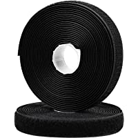 MUSEDAY 2Roll 2CM*5M Hook and Loop Strip Tape Sew On Tapes Fabric Tape with Non-Adhesive Back Nylon Fabric Fastener for…