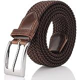 Fairwin Cintura Elastica Intrecciata per Uomo e Donna, Confortevole Cintura in Tessuto Elastico Stretch, per Jeans Pantaloni