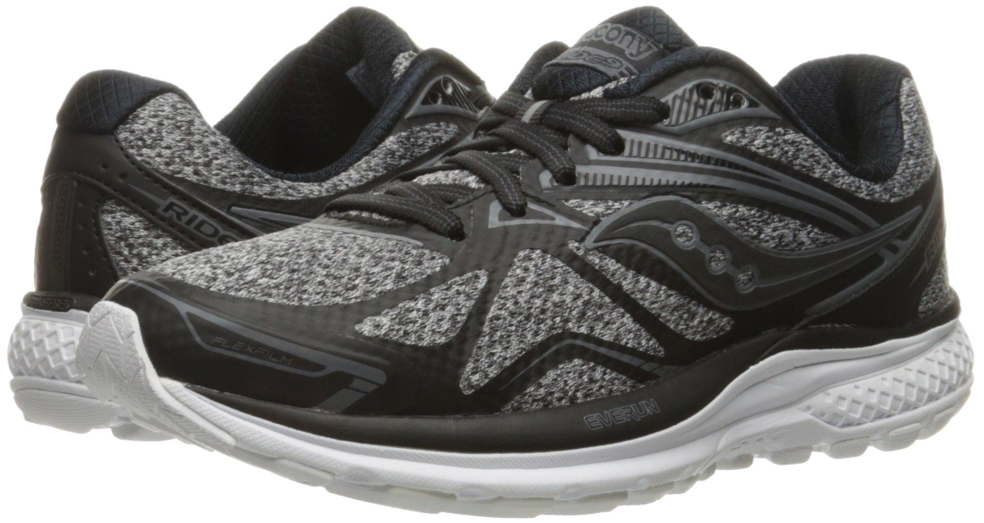 71NioRkjZKL - Saucony Women's Ride 9 Lr Running Shoe, Grey/Black, 5 M US