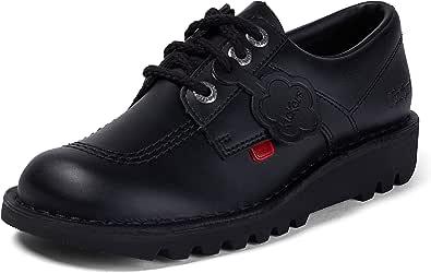 Kickers Mens Kick Lo Black Leather Shoes