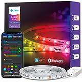 Govee RGBIC LED Strip 10m, Bluetooth LED Streifen, Segmentcontrol, Musik Sync, 64 Szenenmodus, Steuerbar via App-steuerung,Fa