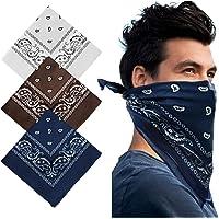 Bandana Head Scarf - 3 Pack Bandana Headband Multifunctional Cotton Paisley Print Neckerchiefs Fashion Hair Accessory…