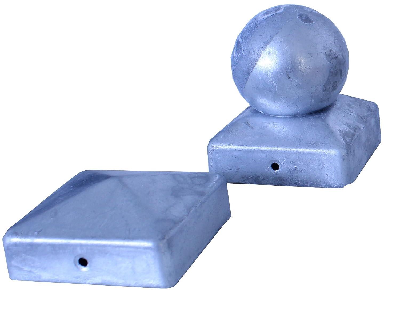 Pfostenkappe verzinkt 7x7 cm Pyramide Abdeckkappe für Pfosten