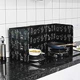 Prosperveil - Pannello di protezione anti-schizzi per fornelli da cucina, ideale da utilizzare durante la frittura, 84 x…