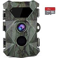 COOLIFE Caméra de Chasse 2.7K 20MP Vision Nocturne 35m Vitesse de Déclenchement 0.1s Caméra Chasse Infrarouge 46 pcs Low…