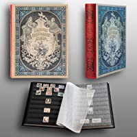 Prophila Collection Stamp Collector's Album with 60 Black Refill Sheets Heritage Design III