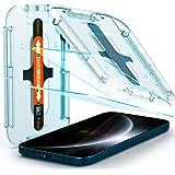 واقي شاشة من الزجاج المقسى من سبيجين [غلاس.تي ار اي زد فيت] مصمم لجهاز ايفون 12 برو ماكس (2020) [6.7 انش] [متوافق مع الحافظة]