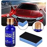 Tracffy Voiture Céramique Revêtement, 9H Ceramic Coating Car Anti-Rayures Polissage Hydrophobe Entretien Protection Paint 30ML