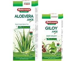 Baidyanath Aloevera 1 lit and 500 ml Giloy Juice Combo