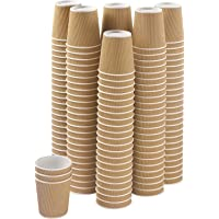 TSP Disposable Ripple Paper Cup for Hot Coffee/Drinks for Party ( 200 ml, 50 PC, Brown)