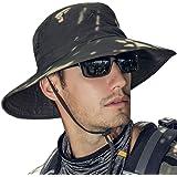 TourKing Outdoor Men Sun Hat Summer UV Protection Cap Wide Brim Fishing Hiking Camping Hat