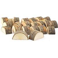 Tebery - 30 segnaposti da tavolo in legno di forma semicircolare, ideali come supporto per fotografie, carte, numero di…