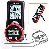 AUTSCA Thermomètre A Viande Télécommande Avec Deux Sondes, Thermomètre Alimentaire A Distance, Thermomètre Cuisine Numérique,