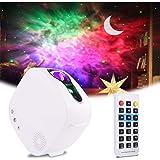 Aled Light Led-projector, maan, sterrenhemel projector, 4-in-1, 360 graden draaibaar, met RF-afstandsbediening en bluetooth-l