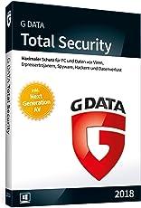 G DATA Total Security 2018 für 3 Windows-PC / 1 Jahr / Erstklassiger Rundumschutz durch Firewall & Antivirus / Trust in German Sicherheit