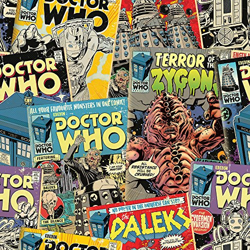 Dr Who offizieller Comic Tapete, Mehrfarbig, 10m