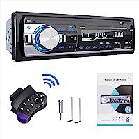 RDS Autoradios Bluetooth, Lifelf Radio Voiture Récepteur avec Lecteur MP3 WMA FM Télécommande, Deux USB Port, Soutien…