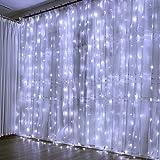 300 LED Cortina de Luces, Luces Led Decorativas. 8 Modos de Luz, Dormitorio Cadena de Luces LED Decoración de Casa, Fiestas,