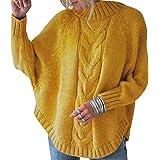 Jersey Punto Cuello Alto Mujer Oversize Sueter Mujer Suéter Jerséis Jerseys Grueso Mujeres Sueteres Jerseis Señora Manga Larg